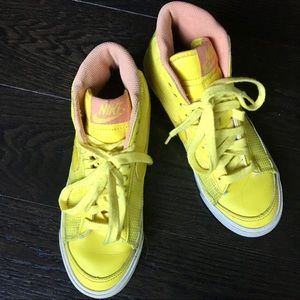 Yellow Nike Blazer Mid Sneakers